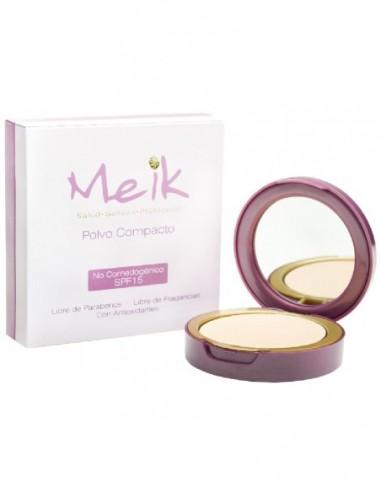 Meik Polvo Compacto Oscuro SPF 15 x 13g en Piel Farmacéutica