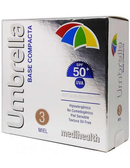 Umbrella Base Compacta SPF 50+ Tono 3: Miel x 11g