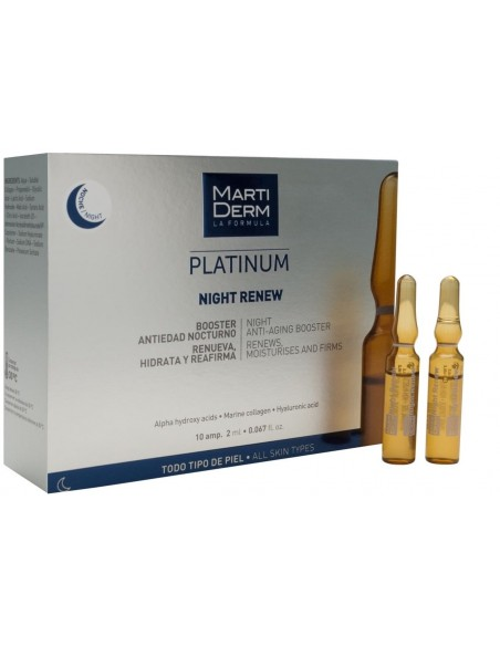 MartiDerm Platinum Night Renew Ampollas 2mL x 10u
