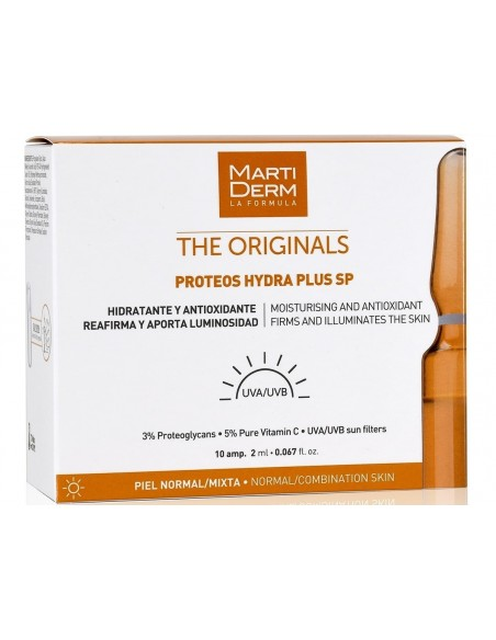 MartiDerm The Originals Proteos Hydra Plus SP Ampollas 2mL x 10u