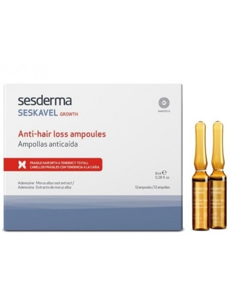 Seskavel Growth Ampollas Anticaída 12u x 8mL