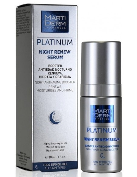 MartiDerm Platinum Night Renew Serum x 30mL