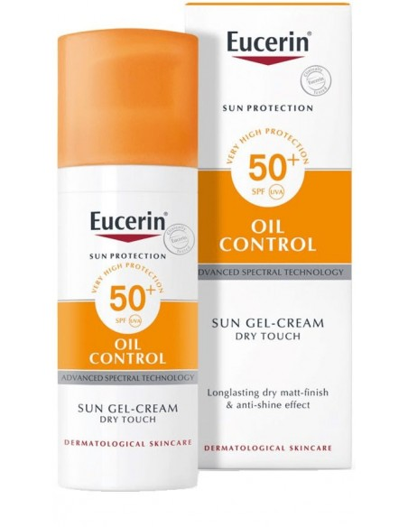 Eucerin Oil Control Sun Gel Cream Toque Seco SPF 50+ x 50mL