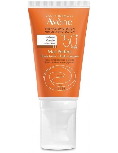 Avène Solar Fluido Mat Perfect Color SPF 50+ x 50mL ****
