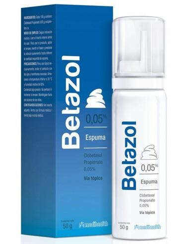 Betazol Espuma x 0.05% x 50g en Piel Farmacéutica