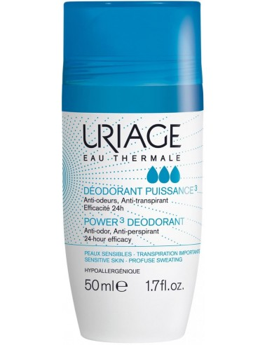 Uriage Deodorant Power 3 x 50mL en Piel Farmacéutica