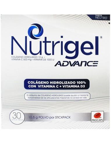 Nutrigel Advance Sobres 10.5g x 30u en Piel Farmacéutica