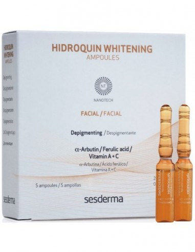 Hidroquin Whitening 5 Ampollas x 2mL ****