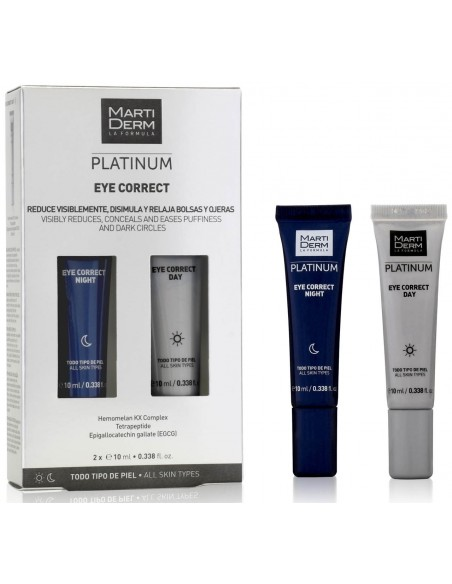 MartiDerm Platinum Eye Correct Day x 10mL & Night x 10mL