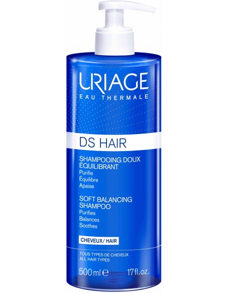 Uriage D.S. Hair Shampooing Doux Equilibrant x 500mL