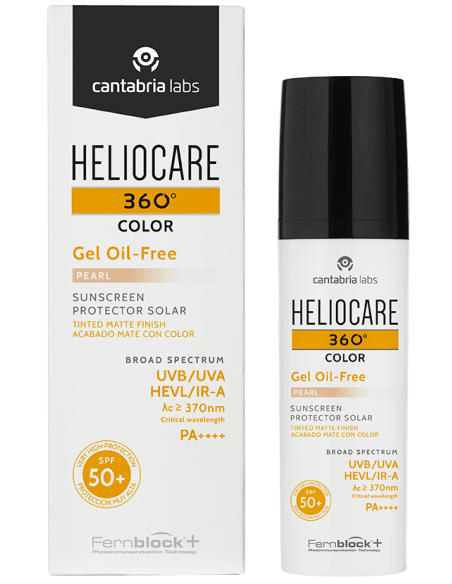 Heliocare 360 Gel Toque Seco SPF 50+ Color Perla x 50mL