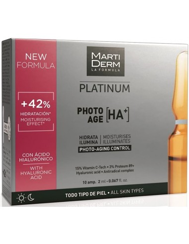 MartiDerm Platinum Photo-Age HA+ Ampollas 2mL x 10u en Piel Farmacéutica